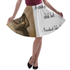 A Child is Miseducated... A-line Skater Skirt
