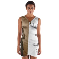 A Child is Miseducated... Wrap Front Bodycon Dress