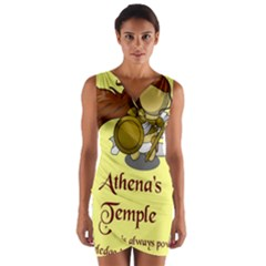 Athena s Temple Wrap Front Bodycon Dress