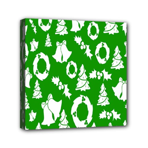 Backdrop Background Card Christmas Mini Canvas 6  x 6