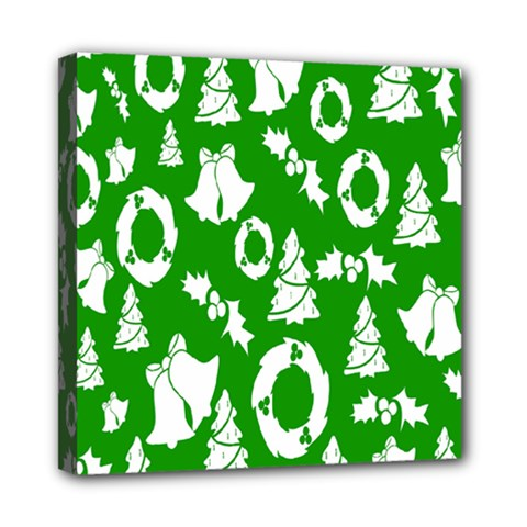 Backdrop Background Card Christmas Mini Canvas 8  x 8