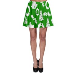 Backdrop Background Card Christmas Skater Skirt