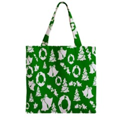Backdrop Background Card Christmas Zipper Grocery Tote Bag