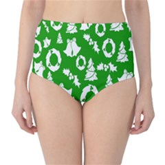 Backdrop Background Card Christmas High-Waist Bikini Bottoms