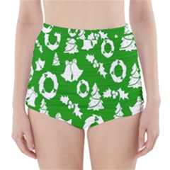Backdrop Background Card Christmas High Waisted Bikini Bottoms