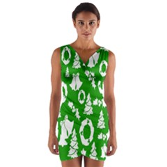 Backdrop Background Card Christmas Wrap Front Bodycon Dress
