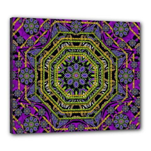 Wonderful Peace Flower Mandala Canvas 24  X 20
