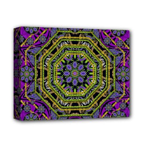 Wonderful Peace Flower Mandala Deluxe Canvas 14  x 11