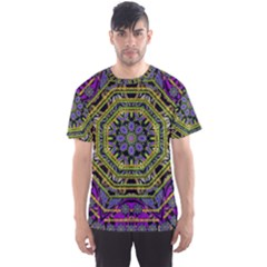 Wonderful Peace Flower Mandala Men s Sport Mesh Tee
