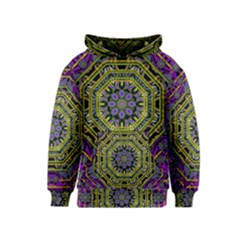 Wonderful Peace Flower Mandala Kids  Pullover Hoodie