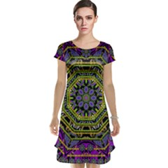 Wonderful Peace Flower Mandala Cap Sleeve Nightdress
