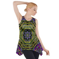 Wonderful Peace Flower Mandala Side Drop Tank Tunic