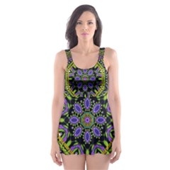 Wonderful Peace Flower Mandala Skater Dress Swimsuit