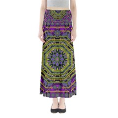 Wonderful Peace Flower Mandala Maxi Skirts