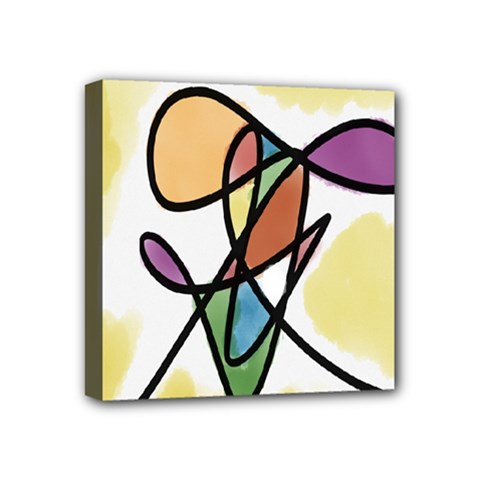Art Abstract Exhibition Colours Mini Canvas 4  x 4