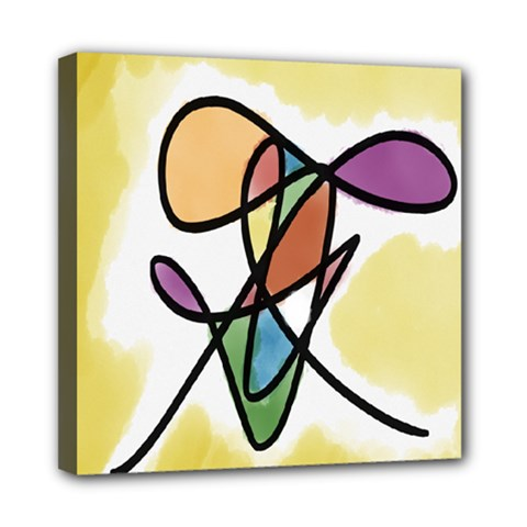 Art Abstract Exhibition Colours Mini Canvas 8  x 8