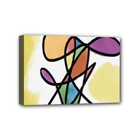 Art Abstract Exhibition Colours Mini Canvas 6  x 4