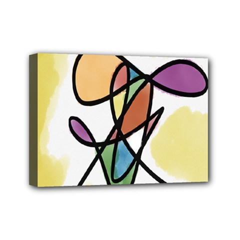 Art Abstract Exhibition Colours Mini Canvas 7  x 5