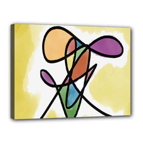 Art Abstract Exhibition Colours Canvas 16  x 12