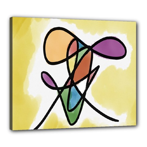 Art Abstract Exhibition Colours Canvas 24  x 20