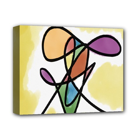 Art Abstract Exhibition Colours Deluxe Canvas 14  x 11