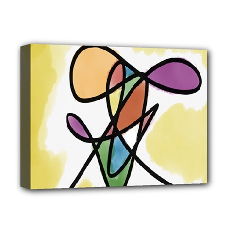 Art Abstract Exhibition Colours Deluxe Canvas 16  x 12