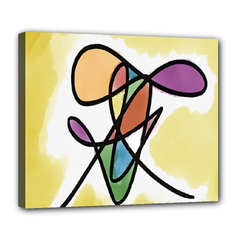 Art Abstract Exhibition Colours Deluxe Canvas 24  x 20