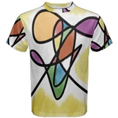 Art Abstract Exhibition Colours Men s Cotton Tee
