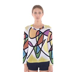 Art Abstract Exhibition Colours Women s Long Sleeve Tee