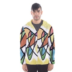 Art Abstract Exhibition Colours Hooded Wind Breaker (Men)