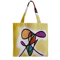 Art Abstract Exhibition Colours Zipper Grocery Tote Bag