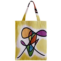 Art Abstract Exhibition Colours Zipper Classic Tote Bag