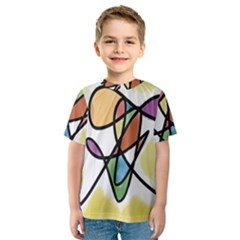 Art Abstract Exhibition Colours Kids  Sport Mesh Tee