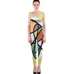 Art Abstract Exhibition Colours OnePiece Catsuit