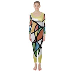 Art Abstract Exhibition Colours Long Sleeve Catsuit