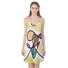 Art Abstract Exhibition Colours Camis Nightgown
