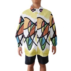 Art Abstract Exhibition Colours Wind Breaker (Kids)