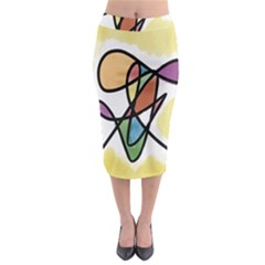 Art Abstract Exhibition Colours Midi Pencil Skirt