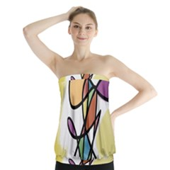 Art Abstract Exhibition Colours Strapless Top