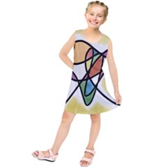 Art Abstract Exhibition Colours Kids  Tunic Dress