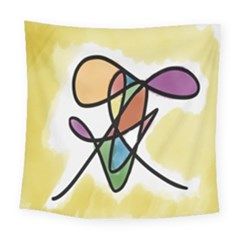 Art Abstract Exhibition Colours Square Tapestry (large)