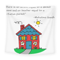 No School Greater    Square Tapestry (large)