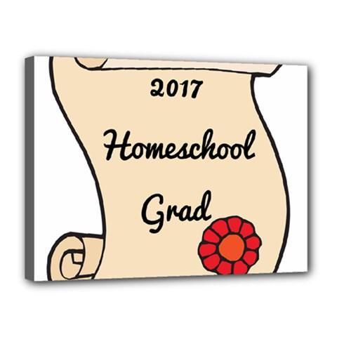 2017 Homeschool Grad! Canvas 16  x 12