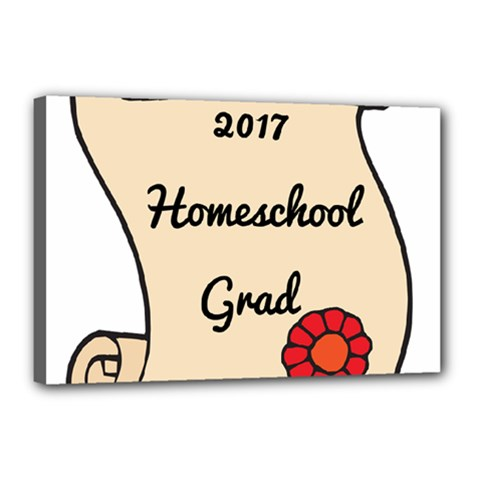 2017 Homeschool Grad! Canvas 18  x 12