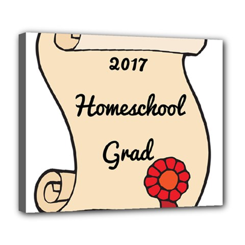 2017 Homeschool Grad! Deluxe Canvas 24  x 20