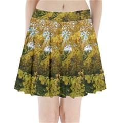 Vermont Tree in Autumn Pleated Mini Skirt
