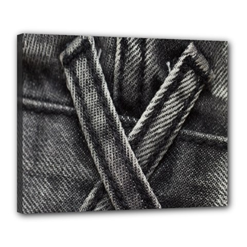 Backdrop Belt Black Casual Closeup Canvas 20  x 16