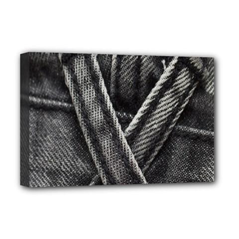 Backdrop Belt Black Casual Closeup Deluxe Canvas 18  x 12