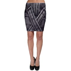 Backdrop Belt Black Casual Closeup Bodycon Skirt
