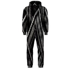 Backdrop Belt Black Casual Closeup Hooded Jumpsuit (Men)